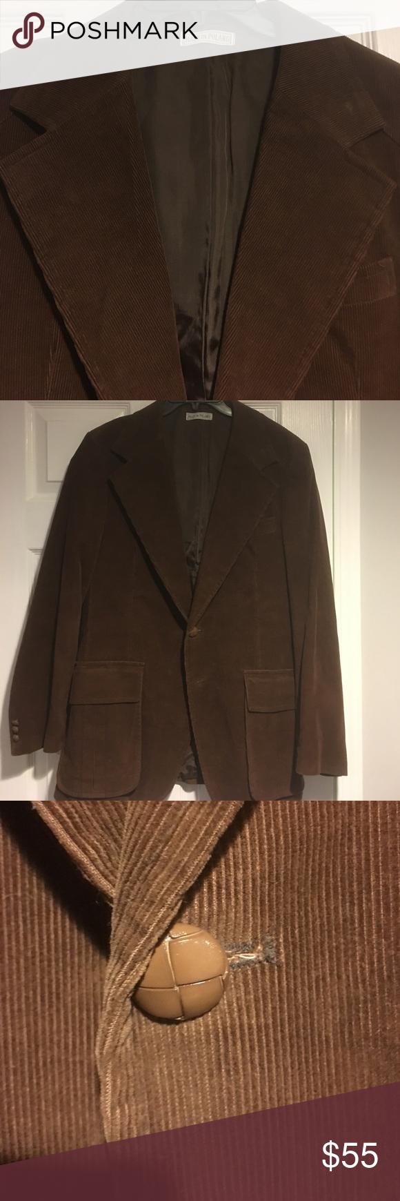 Scott's Gray Ltd brown retro corduroy sports coat | Coats, Blazers ...