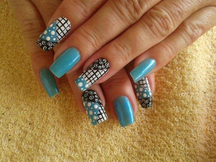plaid and polka dots