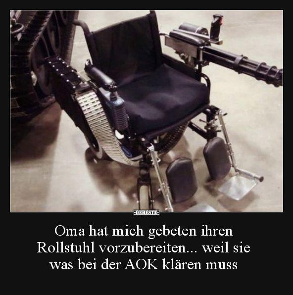 Photo of Oma hat mich gebeten ihren Rollstuhl vorzubereiten… | Lust…