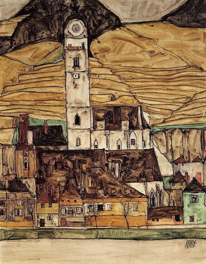 Stein on the Danube, seen from the Kreuzberg, 1913