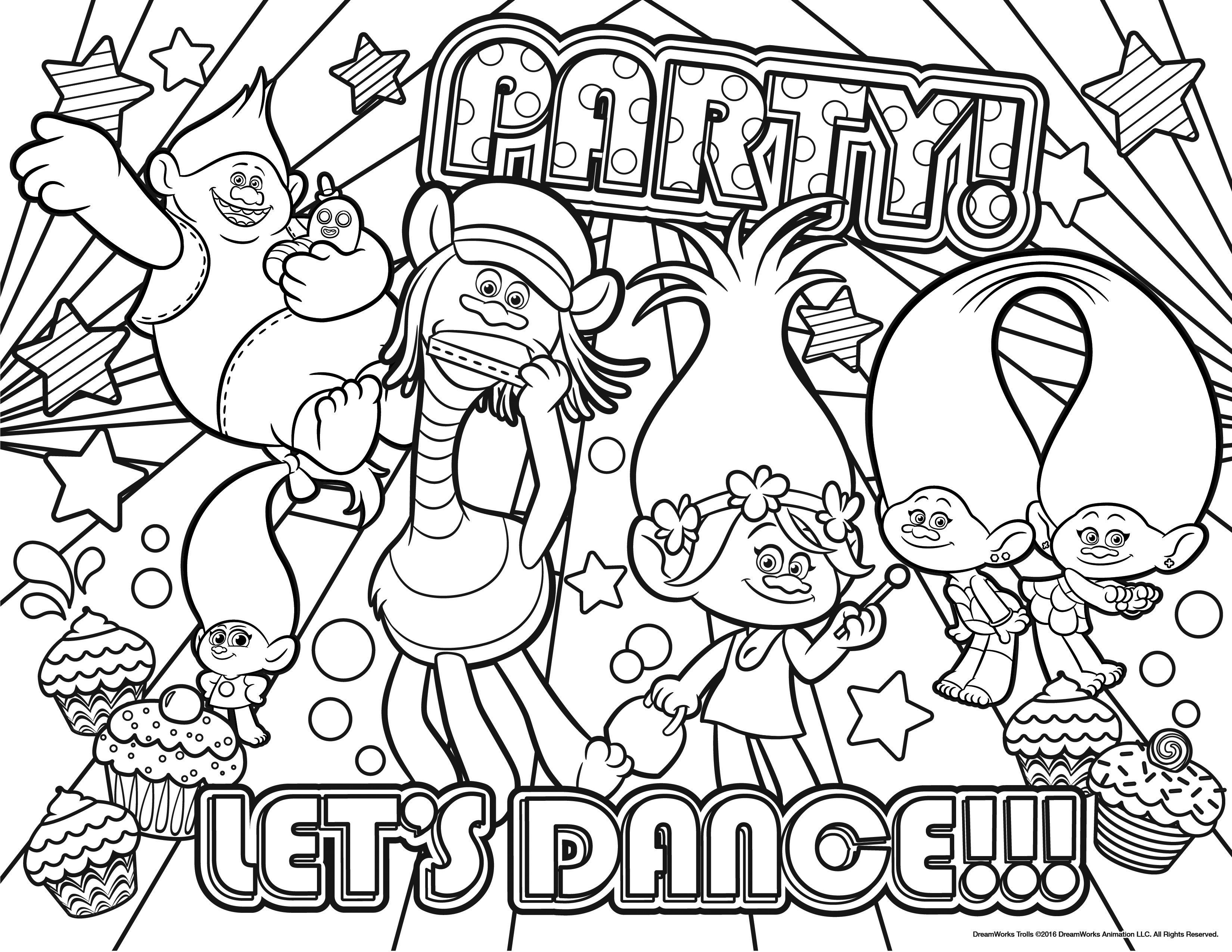 Trolls coloringpage 3300 2550 kolorowanki pinterest free printable - Color for th birthday ...