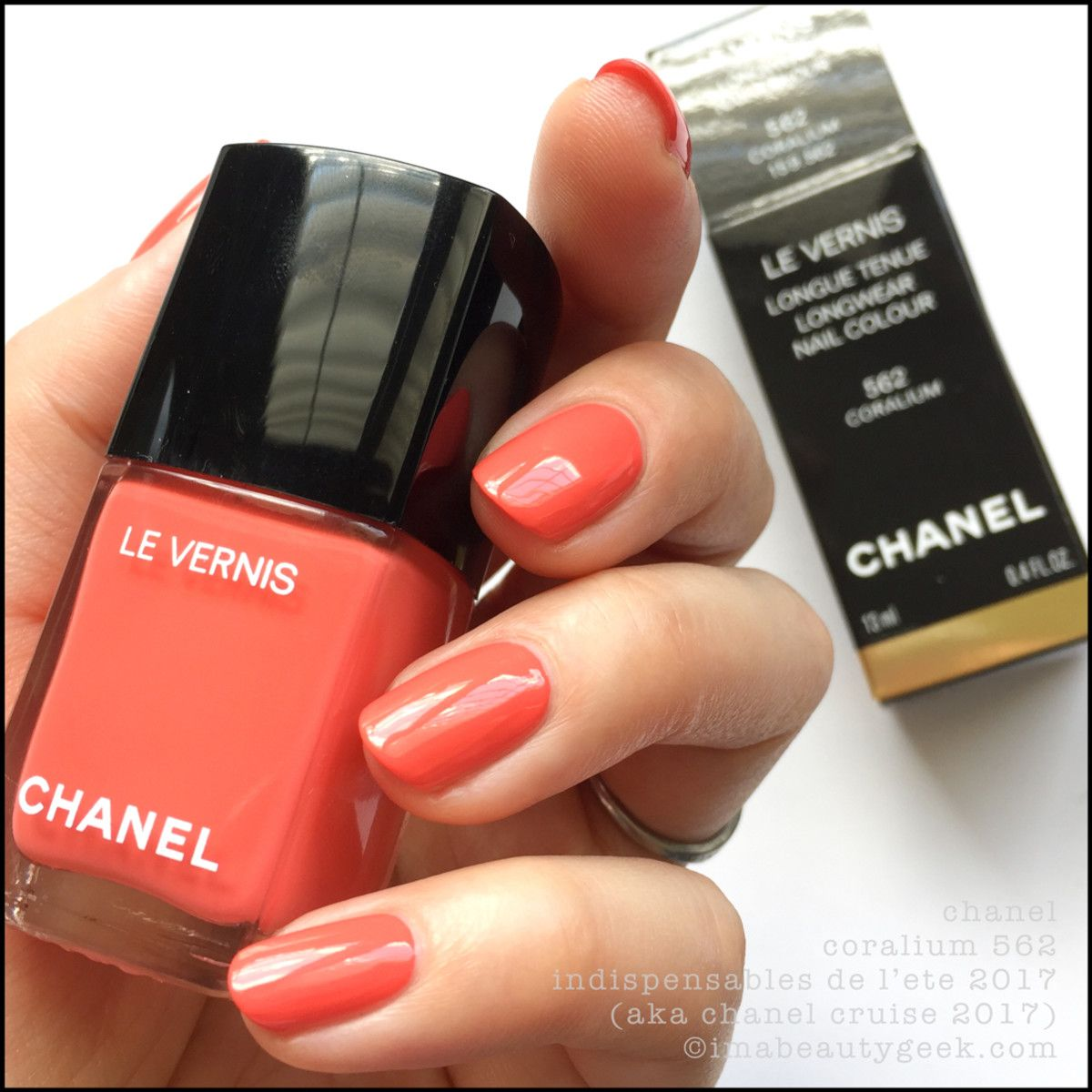 cdd34175ed8 Chanel Coralium 552 – Chanel Cruise 2017 Summer Collection Chanel Nails