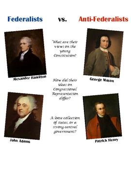 federalists vs anti federalists the new constitution what were