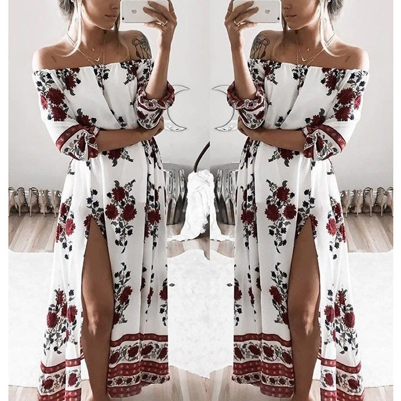 One Shoulder Sun Dresses