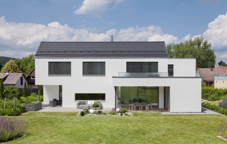Neubau Wh I Oberpfalz 2012 Graues Haus Haus Architektur Anbau