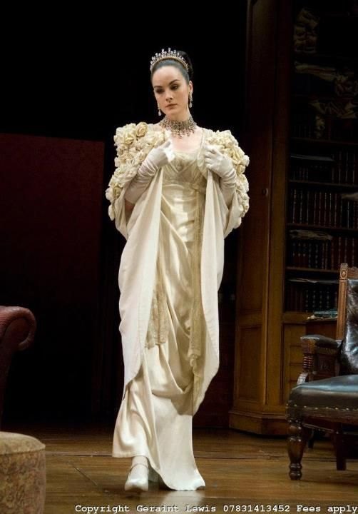 Michelle Dockery (a.k.a. Lady Mary Crawley in Downton Abbey) on stage as Eliza Dolittle in Pygmalion, 2008