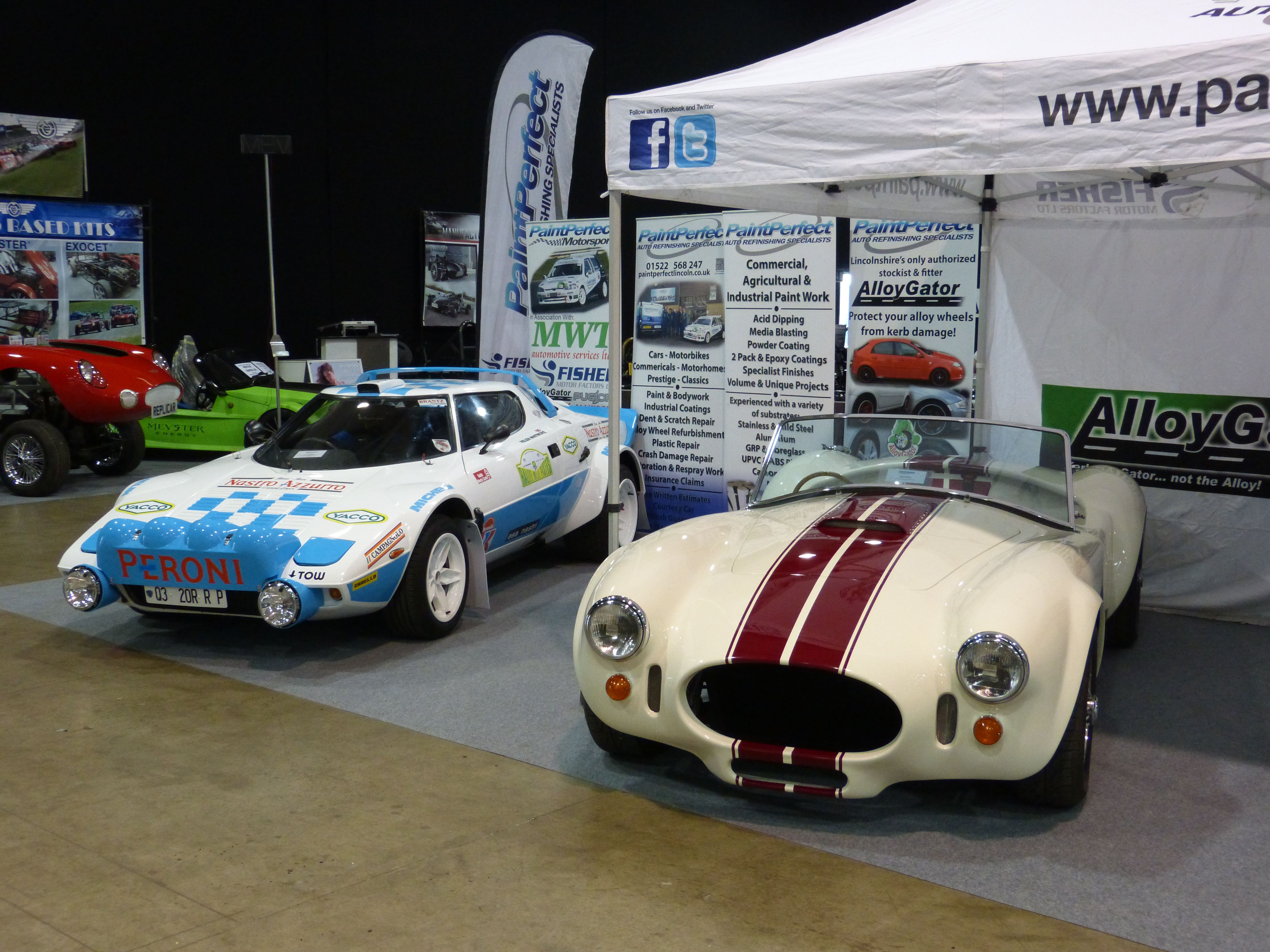 Grp Fibreglass Body Shells Painted By Paint Perfect On Display