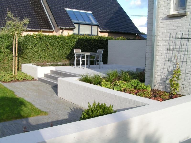 Idee kleine tuin met niveauverschil foto : terras met niveauverschil - Google Search   Tuin   Pinterest ...