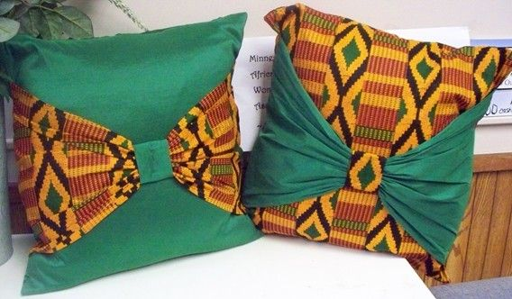 Items similar to Final Clearance Kwanzaa Sale was 35 - Kente Bow Pillow Cases Throw Pillow Covers Decorative Cushions African American on Etsy