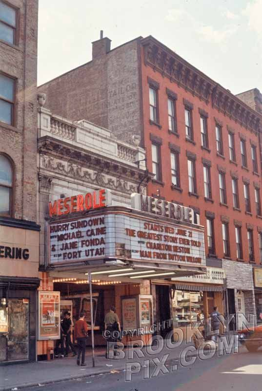 The Merserole theater in Brooklyn - mid 1960's