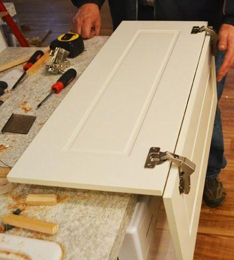Installing Pie Cut Hinged Doors For Lazy Susan Corner Cabinet   Momplex  Vanilla Kitchen | Ana White