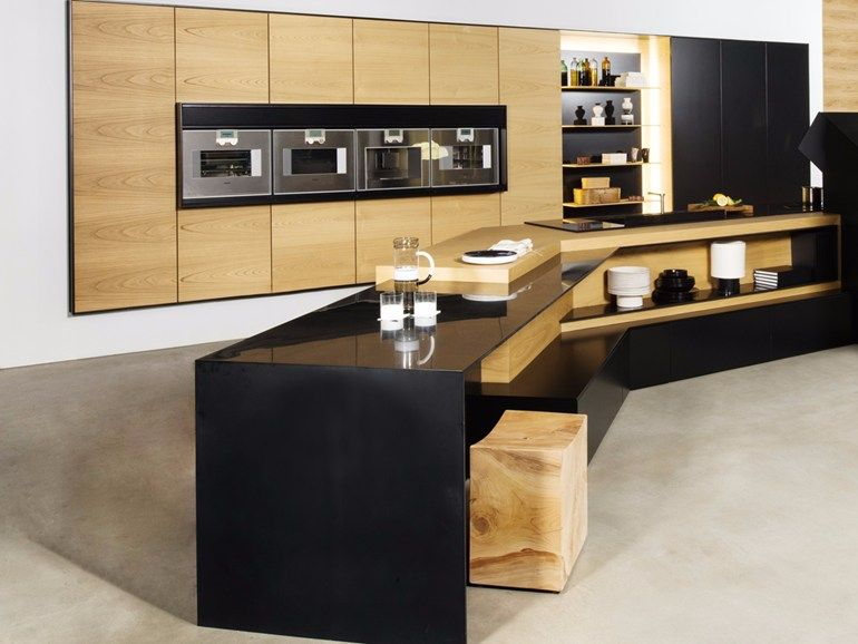 Kitchen with peninsula FX CARBON by TM Italia Cucine design ...