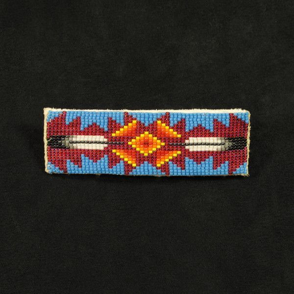 native american beaded hair barrette