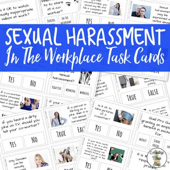 Which of these statements about sexual harassment is false