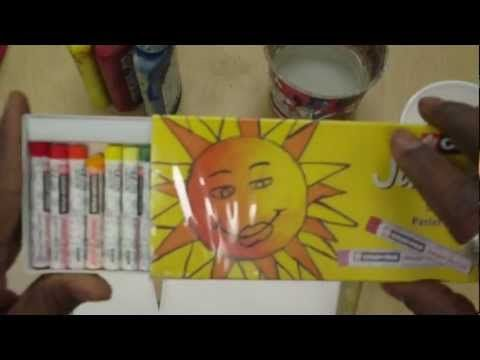 Art Lessons for Kids: Van Gogh Sunflowers pt 1