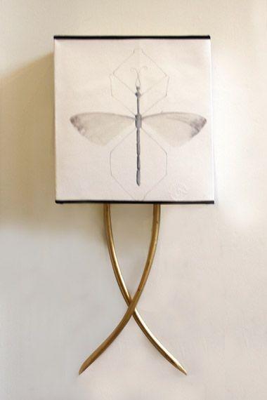 lmpara de pared color dorado aplique hierro iron wall lamp golden color detana