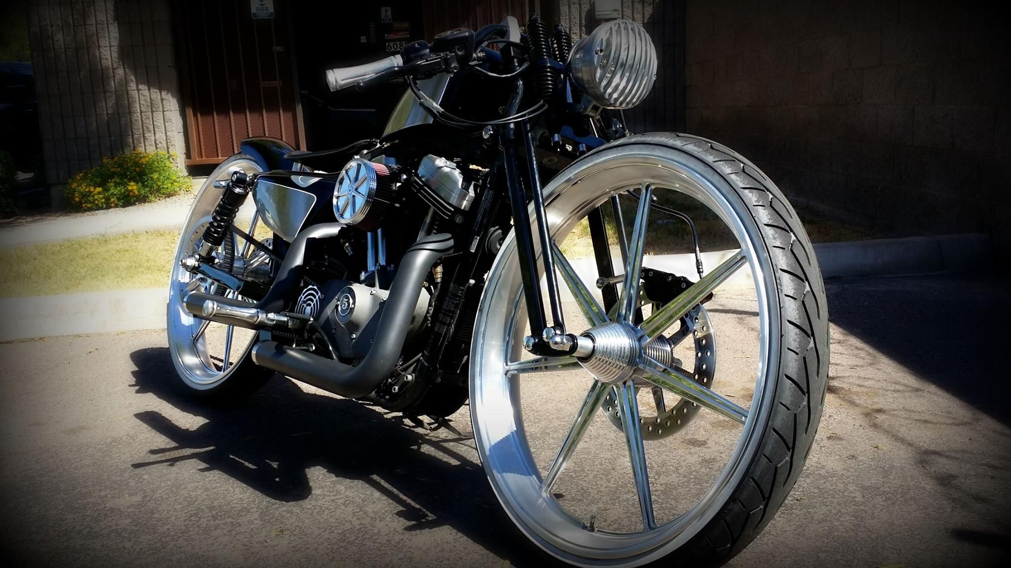 One of our latest creations!! A Harley Sportster with our