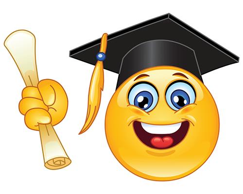 Smiley Graduate...Bachelor's degree 2018..yay!