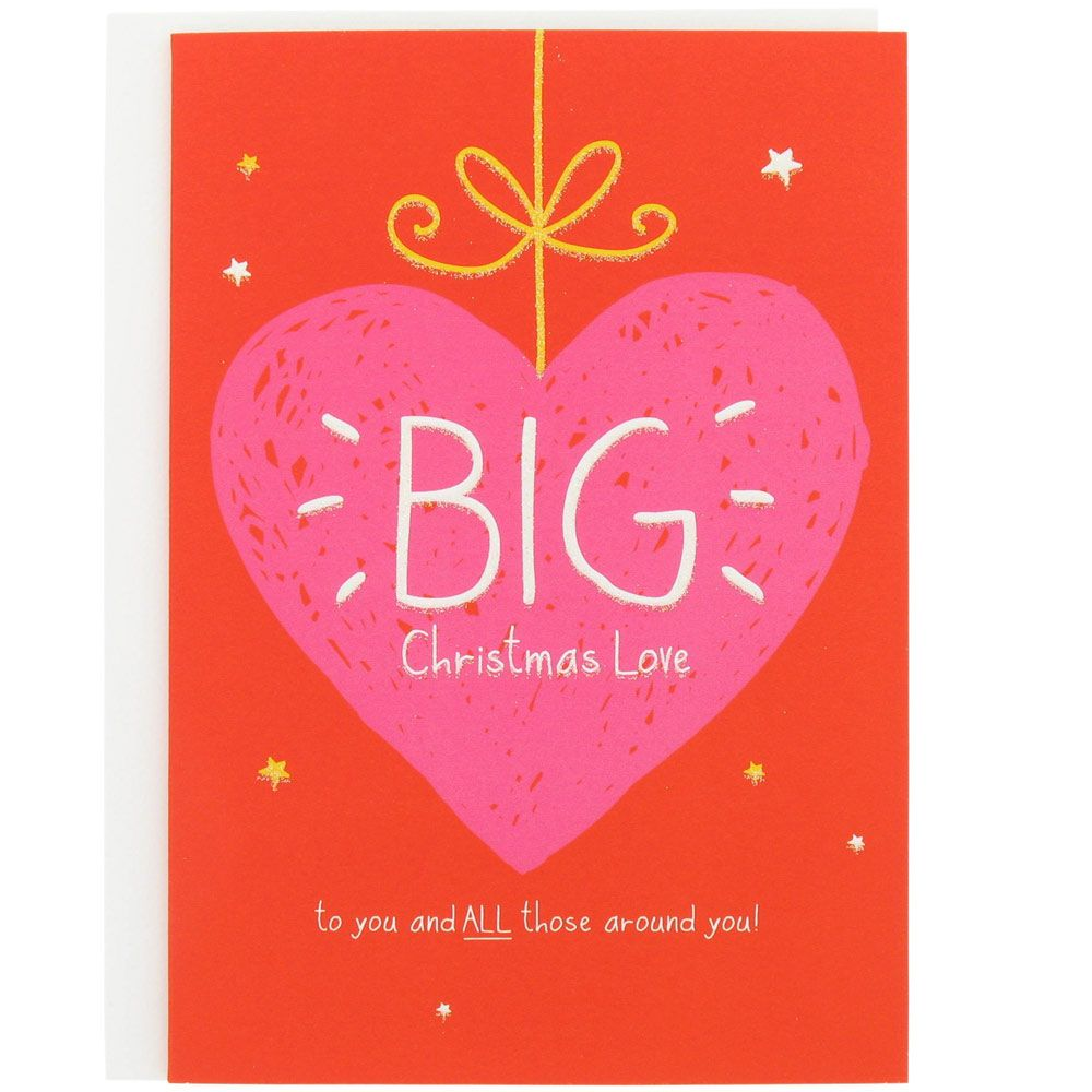 Big Christmas Love Heart Card At Paperchase Print And Pattern