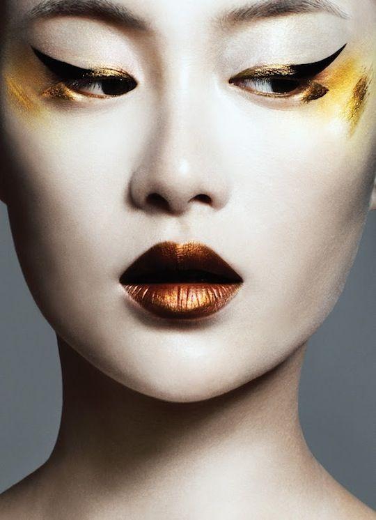 Dourado e bronze