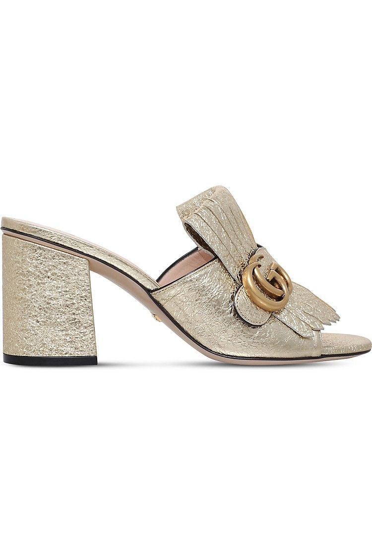 6242acaa3498 GUCCI - Marmont 75 leather mules
