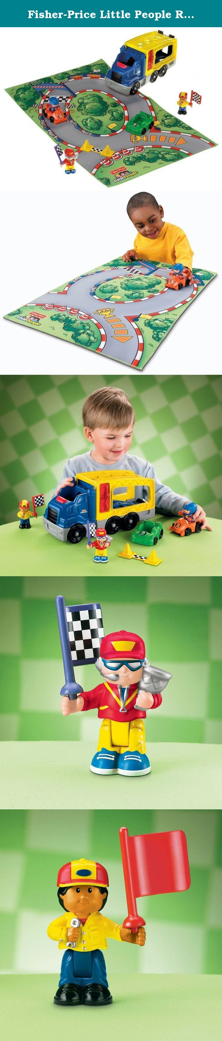 Little people car toys  FisherPrice Little People Race Car Carrier Play Set On your mark