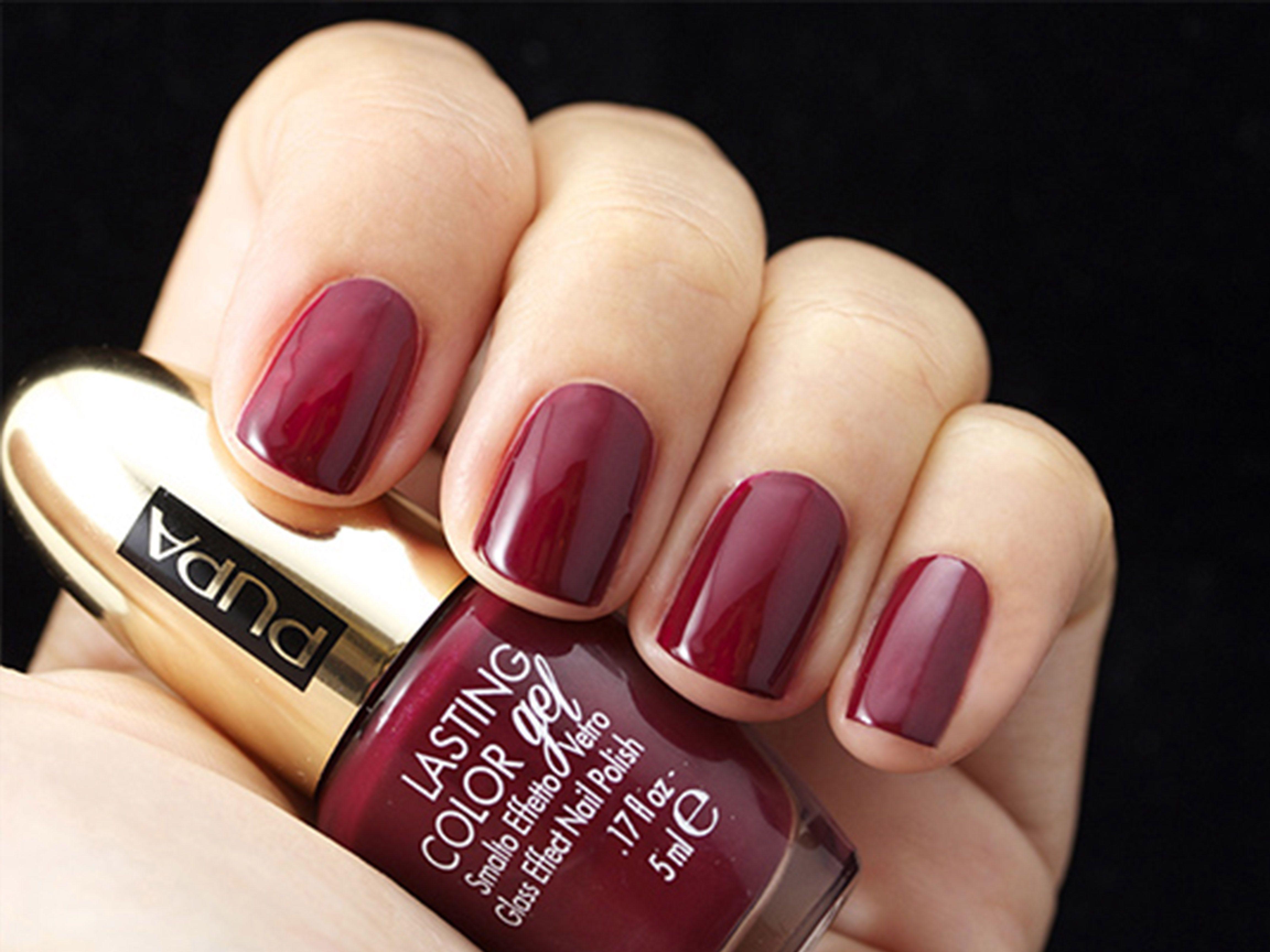 StayGold #nails #nailpolish #lastingcolorgel 134 Deep Burgundy ...