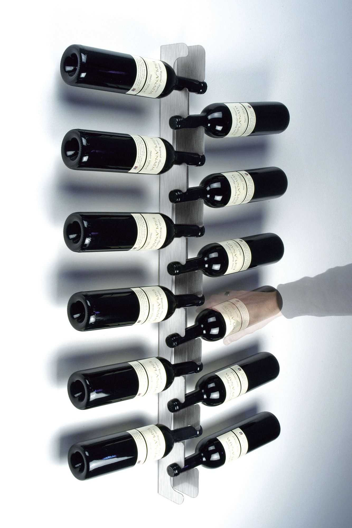 Radius Design 12 Bottle Wall Mounted Wine Rack Wine Rack Modern Wine Rack Wall Mounted Wine Rack