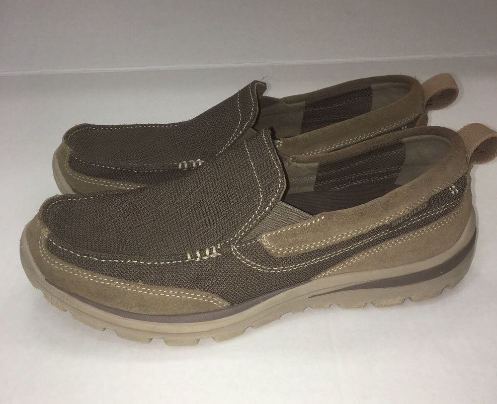 Skechers Relaxed Fit Memory Foam Milford 64365 Slip On Loafers