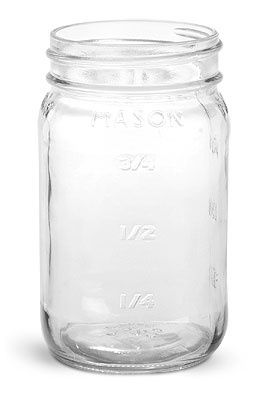 Cheap Mason Jars (without Lids). A Little Tissue Paper On The Sides,