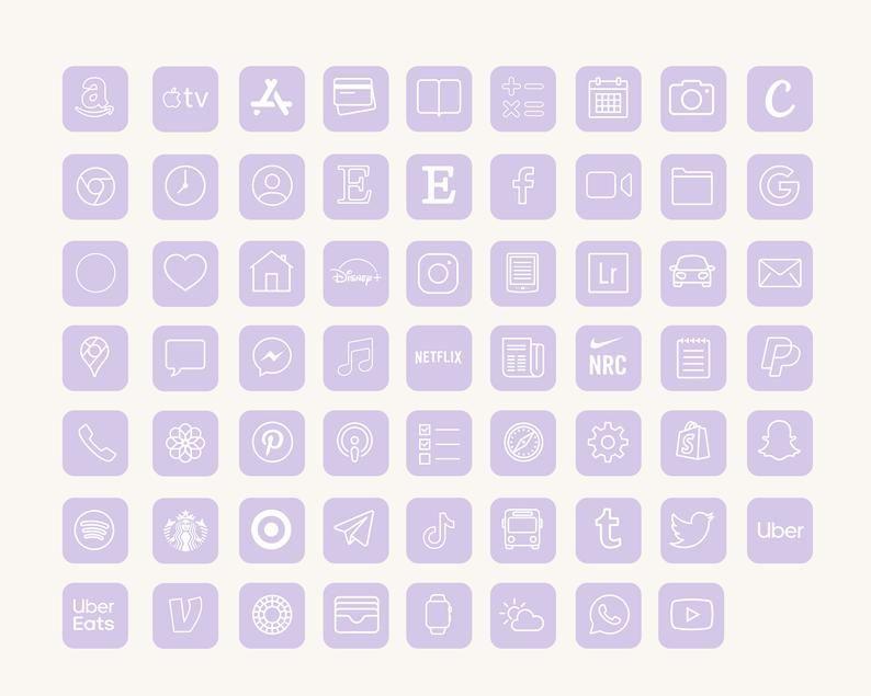 iOS14 App Icons iPhone Aesthetic | 62 iOS 14 App I
