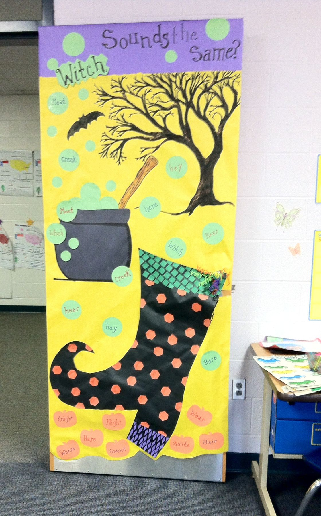 My fall door for my ESL classroom Classroom Decor Ideas - classroom door halloween decorations