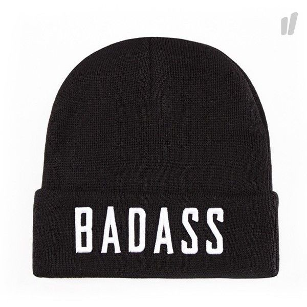 Beastin BadAss Beanie Black White ) ❤ liked on Polyvore featuring beanies  and hats 89963276326