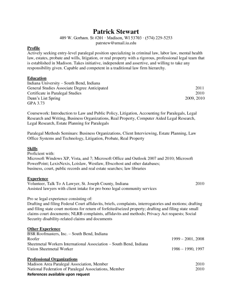 entry level paralegal resume samples - Etame.mibawa.co