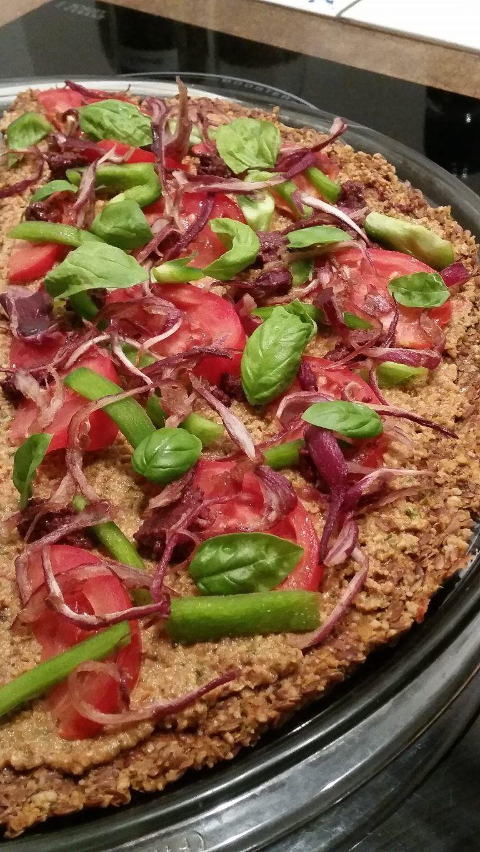 Recette pizza sante pour un régime crudivore (met