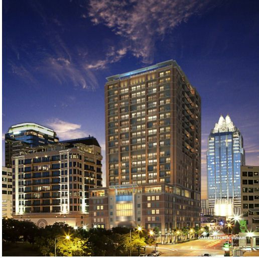 Austin Hotel Zaza Apartments 305 Feet 24 Floors Site