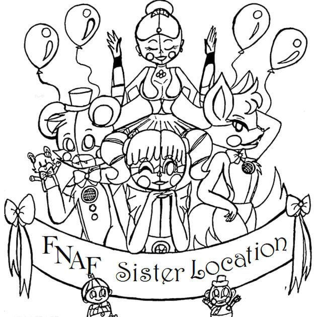 fnaf sister location coloring pages FNAF Sister Location Coloring Page | coloring | Sister location  fnaf sister location coloring pages