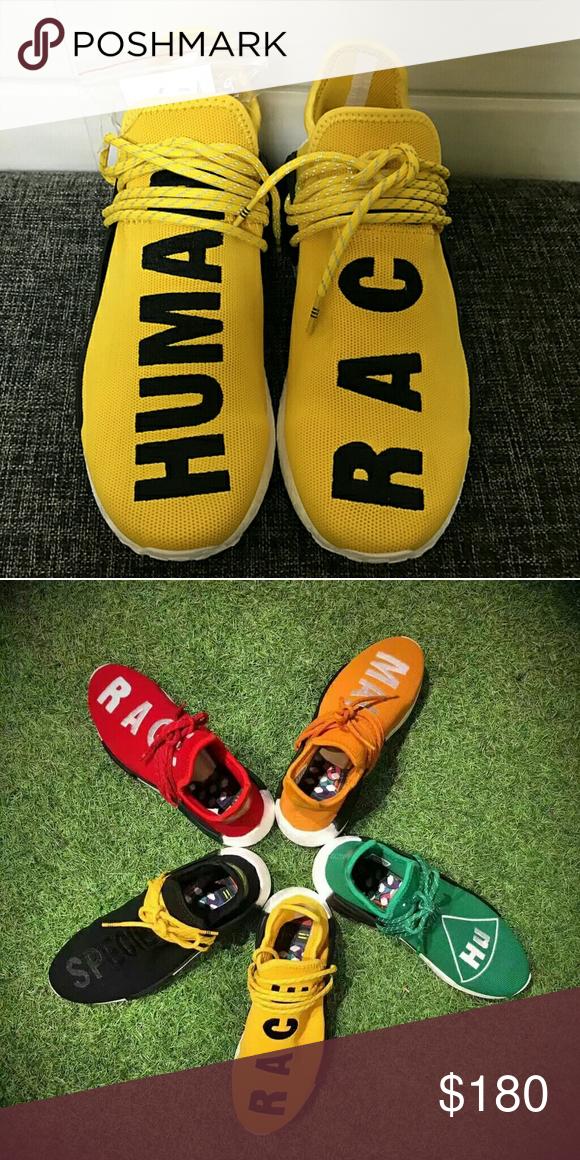 e3b3a2f4b Adidas PW NMD Human Race Yellow Unisex Size   5-13  Color  Black ...