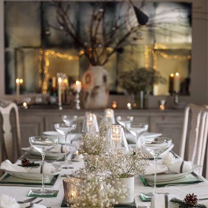White Company Offer Christmas Dinner Table Christmas Table Settings Christmas Dining Decor