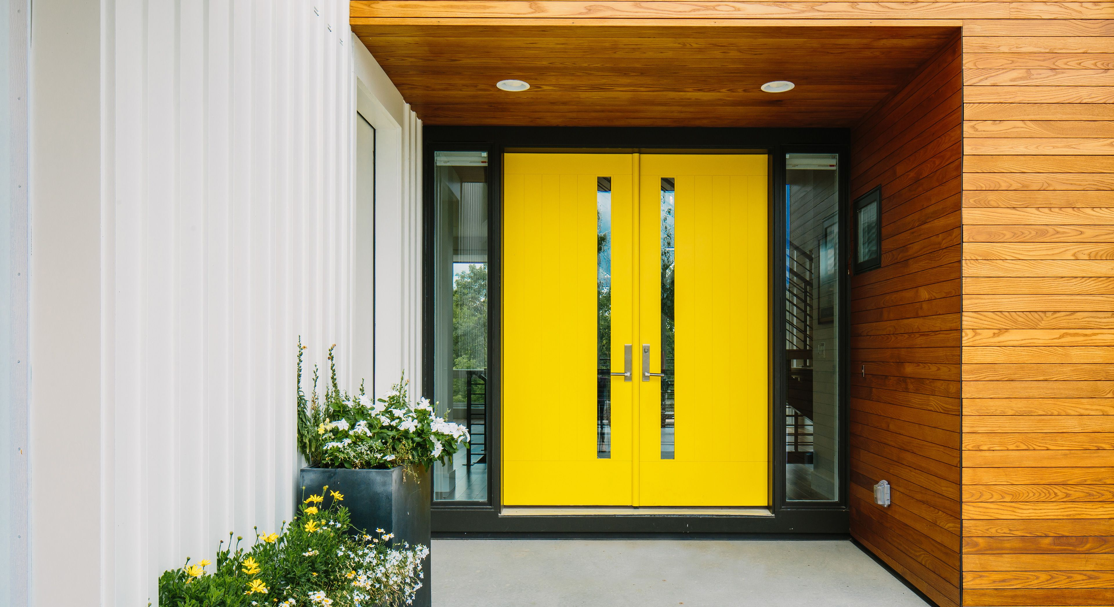 modern mailbox dwell. Credit River Residence By Peterssen/Keller Architecture From The Doors Modern Mailbox Dwell