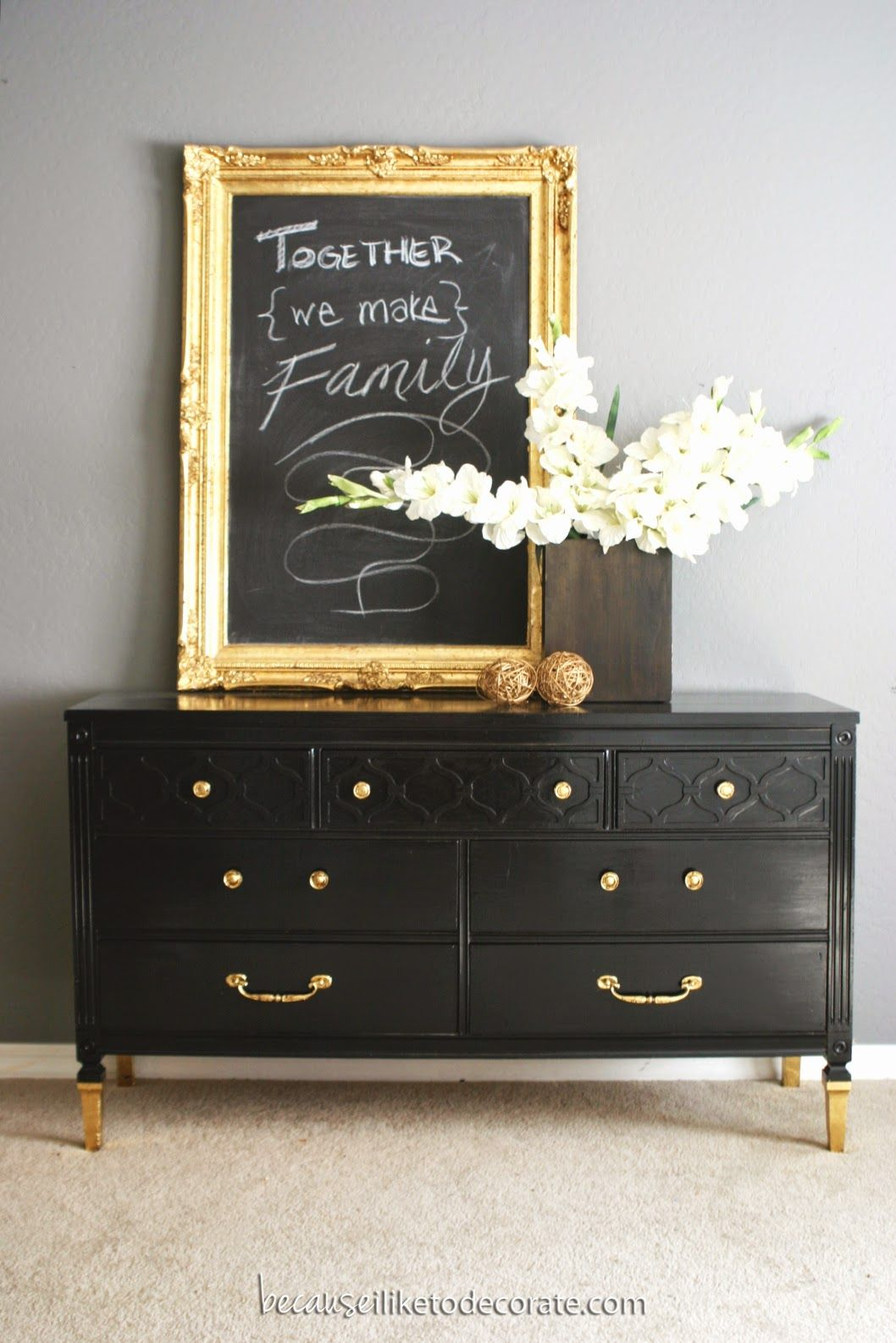 10 Beautiful Black Dresser Makeovers You Should Try Shabby
