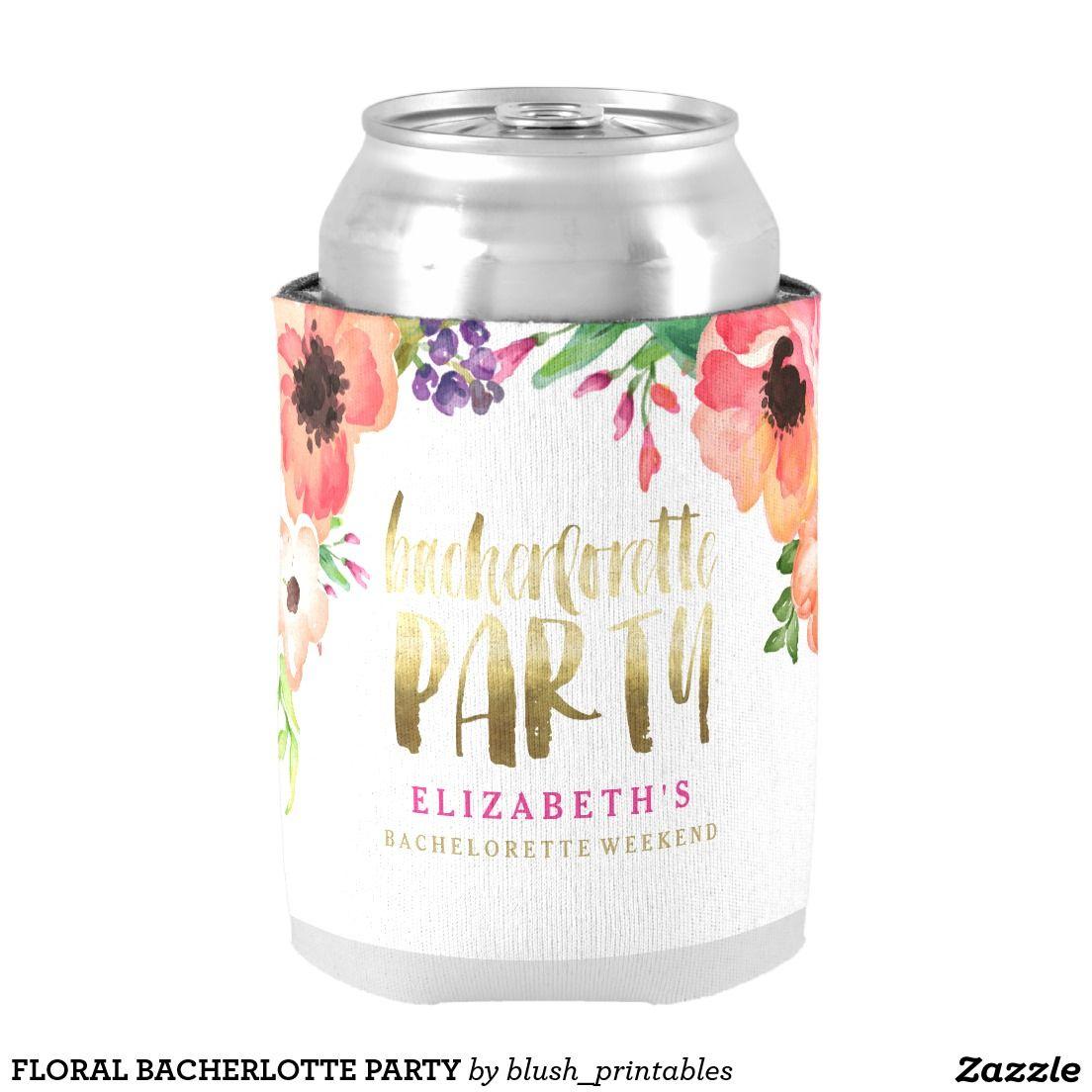 Floral bacherlotte party can cooler | Bachelorette parties, Bridal ...