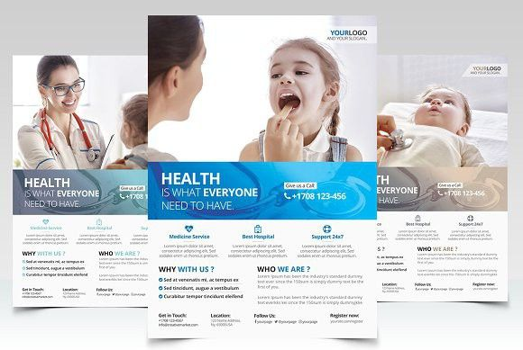Health And Medical PSD Flyer Medical Infographic Medical