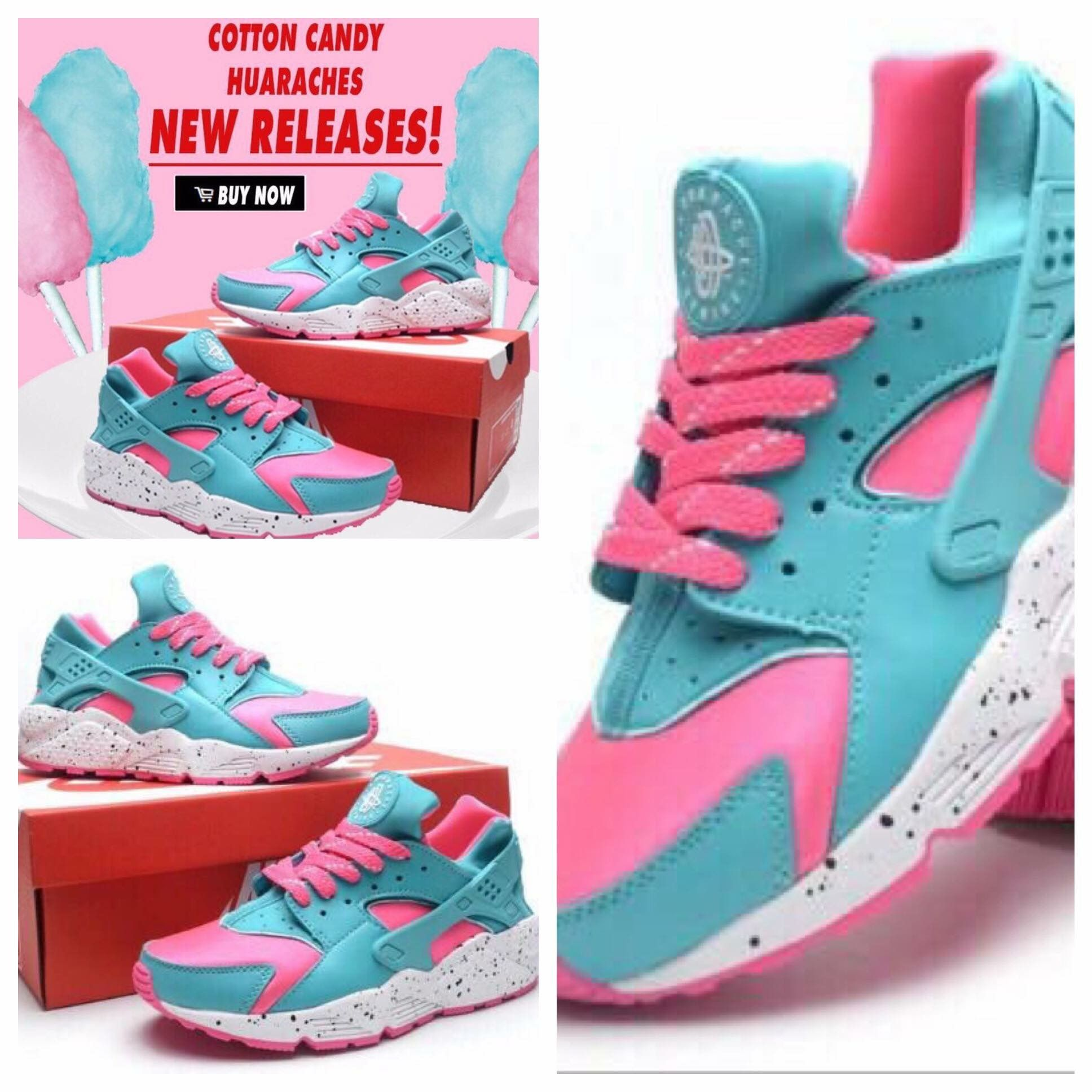 Cotton candy huaraches