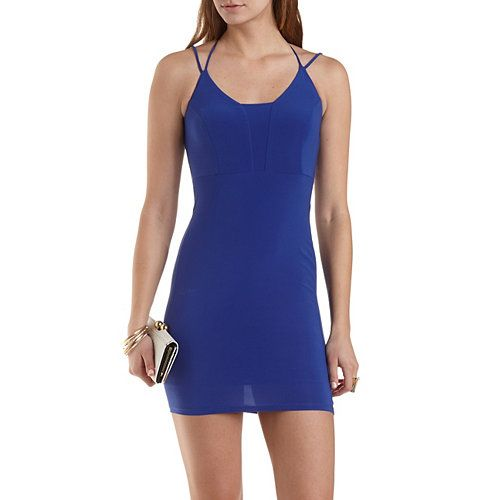 Strappy Bodycon Dress: Charlotte Russe