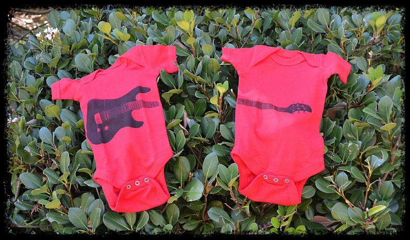 Guitar Babe Onesie For Twin Baby Rockers Baby Clothes Online Baby Rocker Twin Onesies