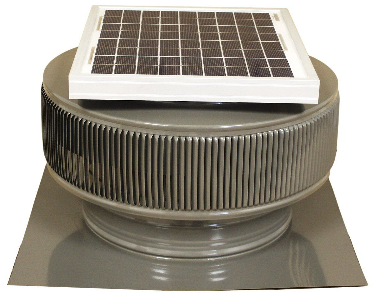 Exhaust Fan Roof Vent Active Ventilation Aura 174 Cfm Weatherwood Solar Powered Roof