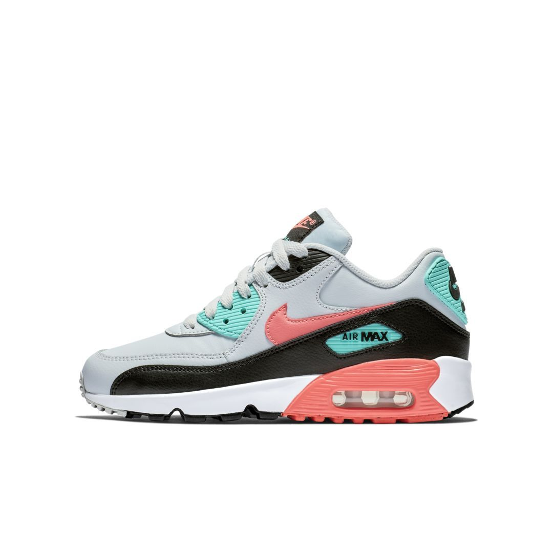 Nike Air Max 90 Leather Big Kids  Shoe Size 5.5Y (Pure Platinum ... 231c0b26ae083