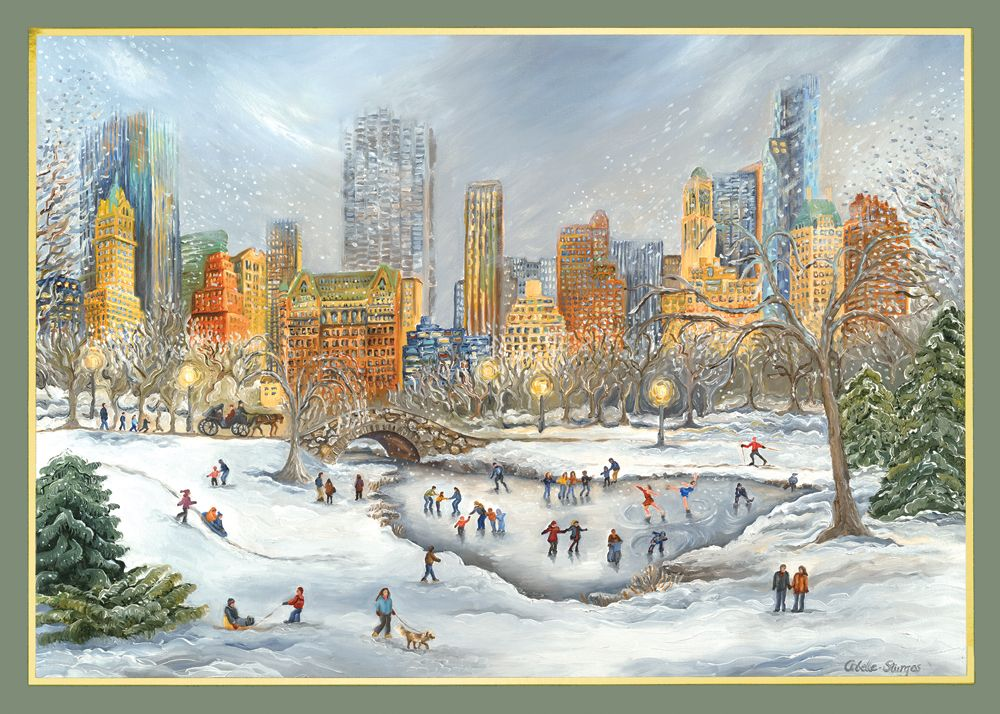 American Artist - Central Park Snow New York Holiday Cards http ...