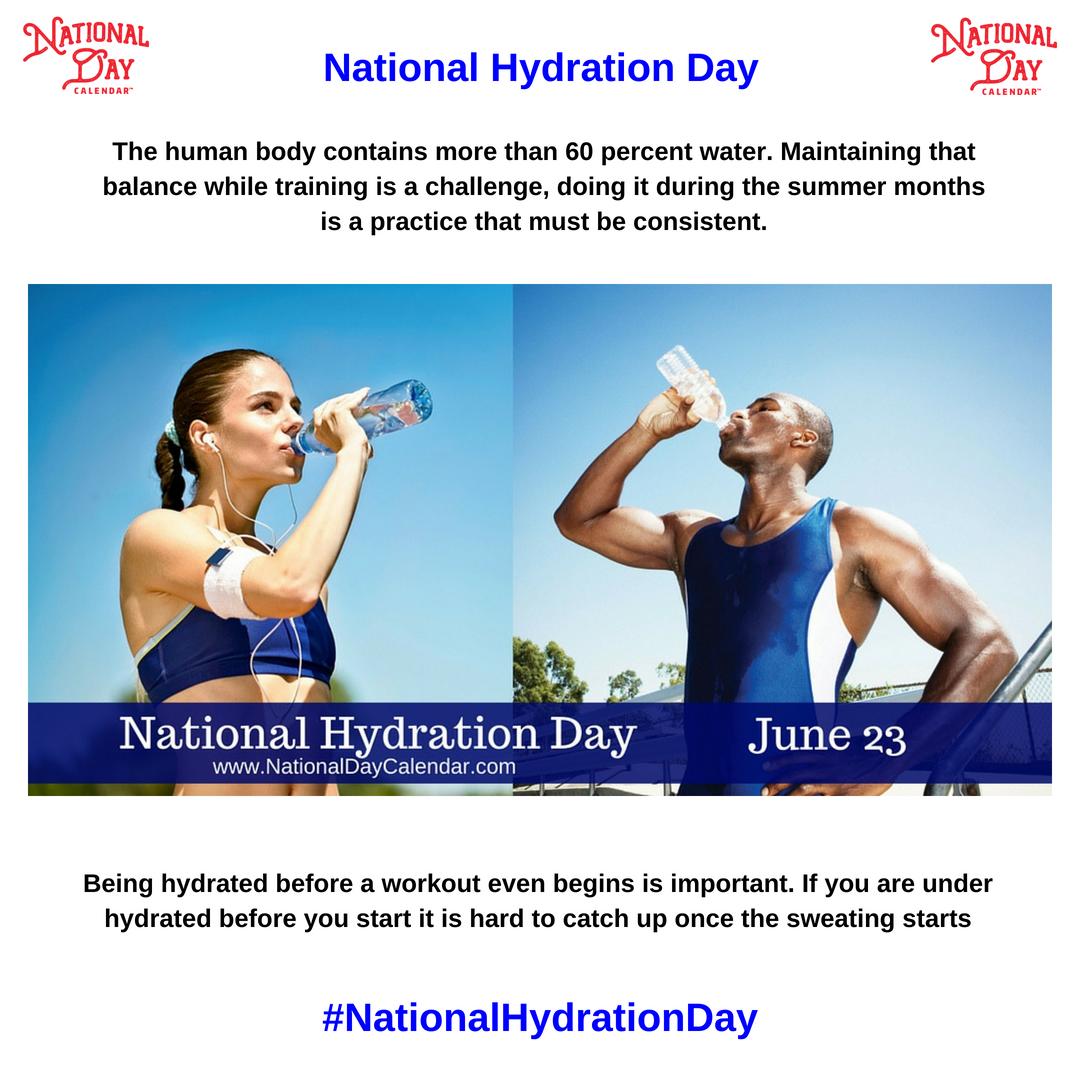 National Hydration Day June 23 National Calendar National Hydration